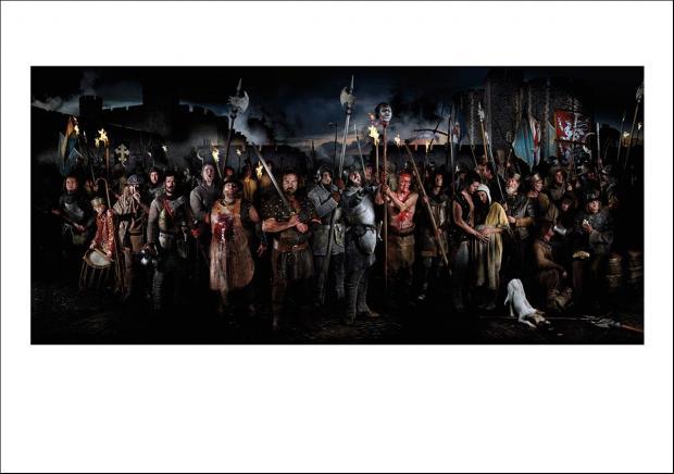 Greetings card of Watt Tyler and the Peasants' Revolt.