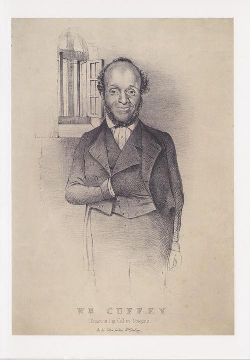 Greetings card of lithograph of William Cuffay.