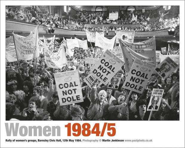 oster of the rally of womens' groups at Barnsley Civic Hall on 12th may 1984.