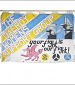Greetings card of the banner of the Maerdy Womens Support Group.