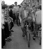 Postcard of Arthur Scargill, N.U.M. President, in Treorchy, The Rhondda, on 16th June 1984.